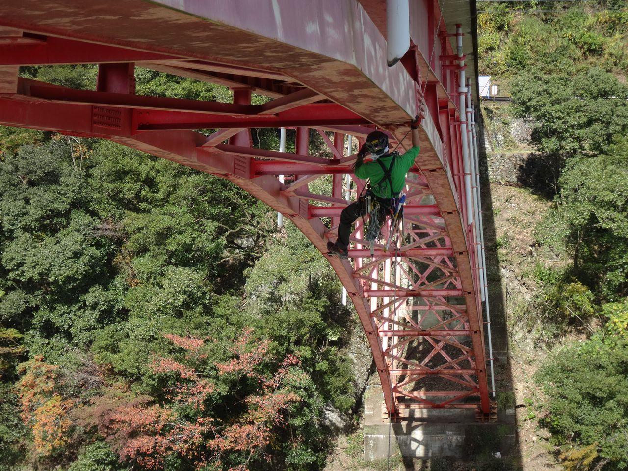 アーチ橋点検